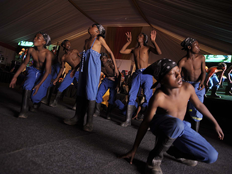 Top Shayela gumboot dancers of South Africa