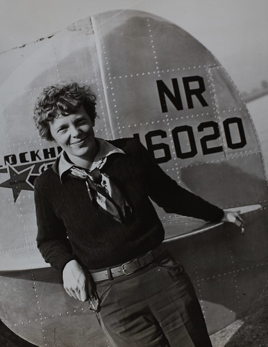 Amelia Earhart by aircraft | by San Diego Air & Space Museum Archives