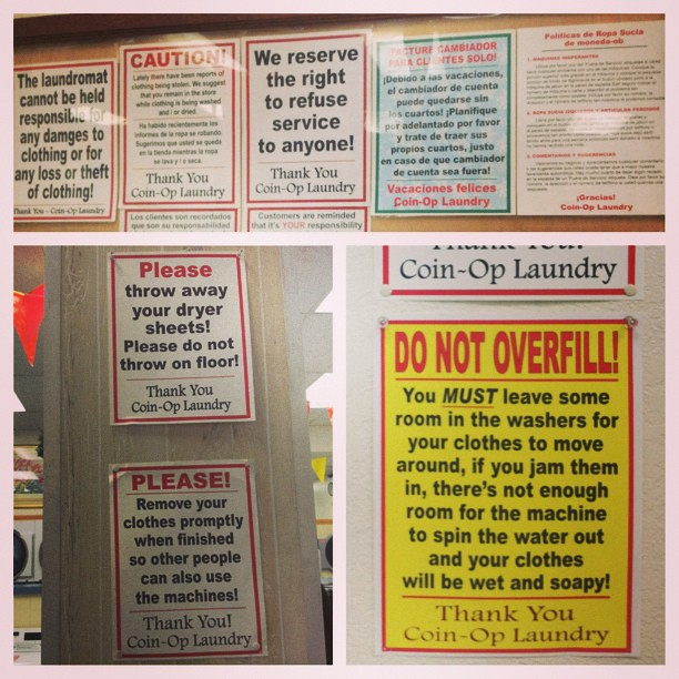 This Laundromat Has So Many Rules There Are Six Other Uni