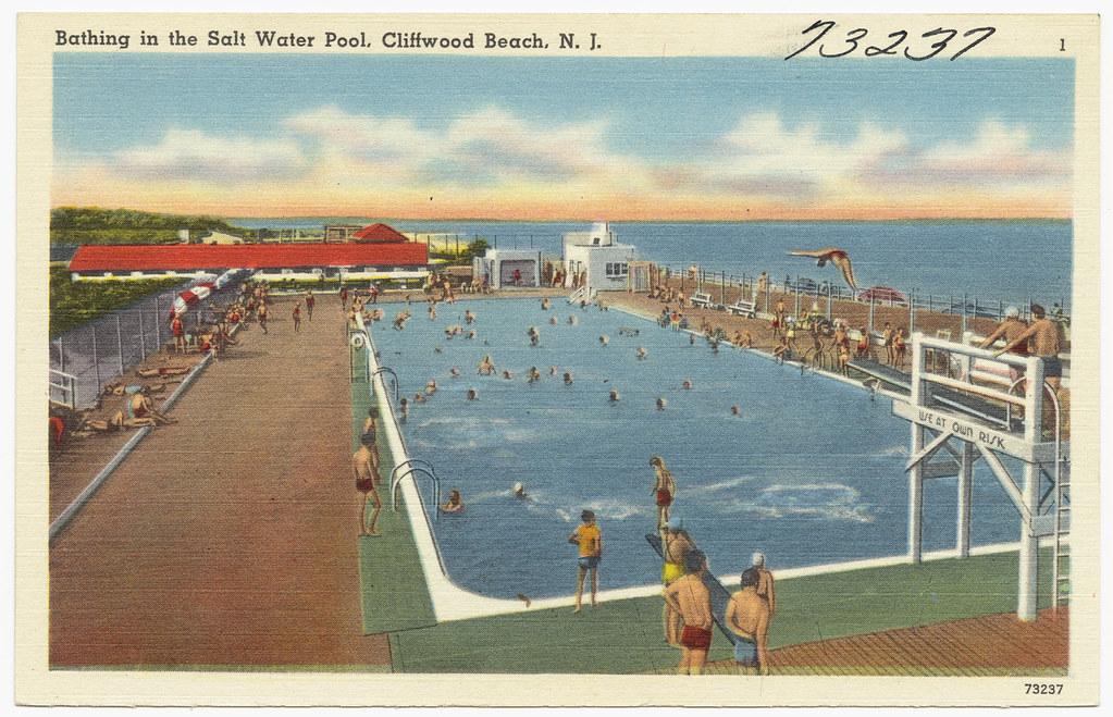 Bathing in the salt water pool cliffwood beach n j flickr - Public salt water swimming pools melbourne ...