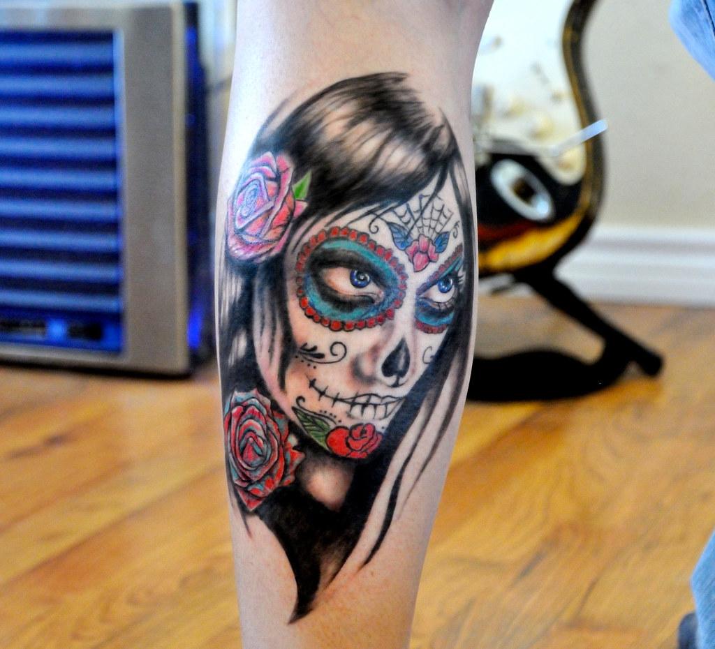 Sugar Skull Tattoo Sugar Skull Girl Tattoo Guy Flickr