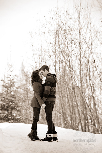 Winter Engagement Session - Prince George BC | by Northern Pixel Photography