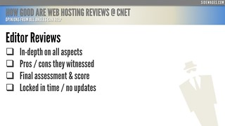 How Good are Web Hosting Reviews @ CNET - PowerPoint Slide #4 | by SideWages