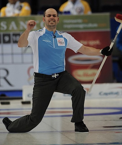 Edmonton Ab.Mar4,2013.Tim Hortons Brier.Quebec skip Jean Michel Menard.CCA/michael burns photo | by seasonofchampions