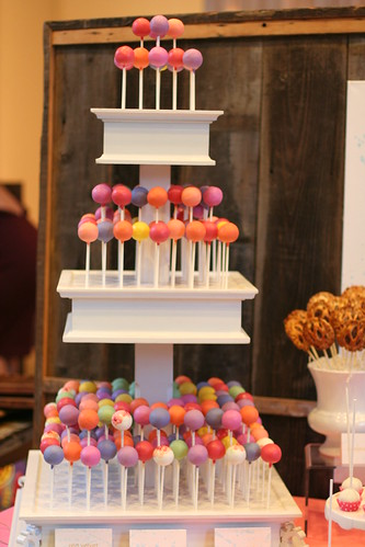 Colorful Cake Pops Decorate Our Stand | by Sweet Lauren Cakes