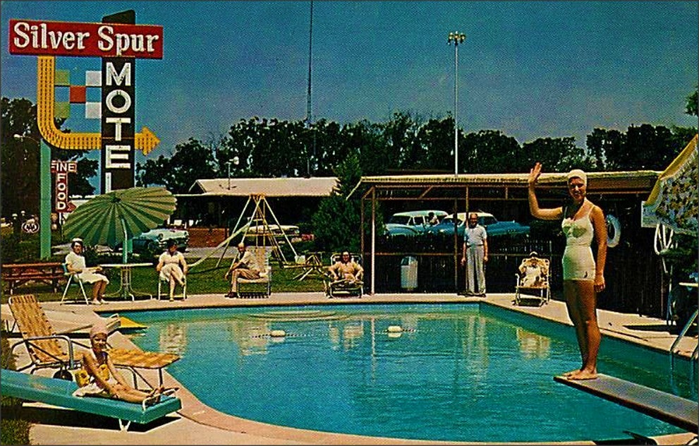 Silver Spur Motel Restaurant Swimming Pool Greenville Tex