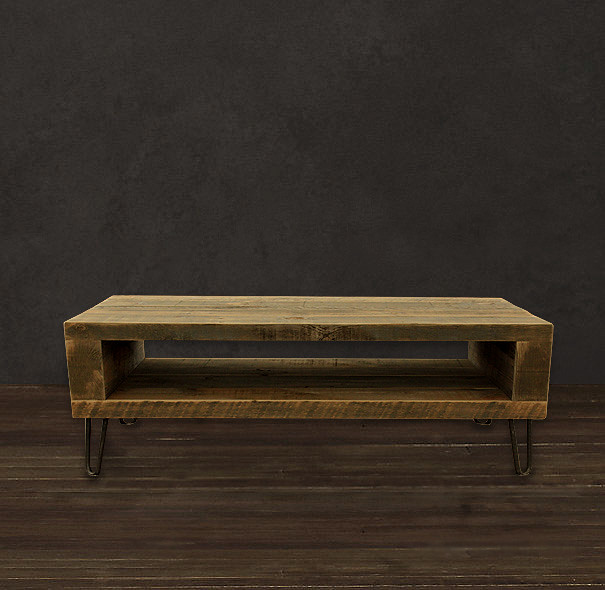 Reclaimed Wood Coffee Table Media Console