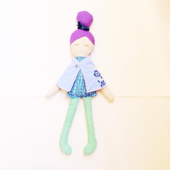 handmade doll using baby blanket