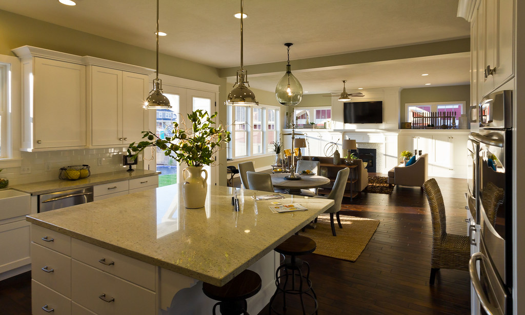 Modern model home kitchen interior design utah parade of for Modern model homes