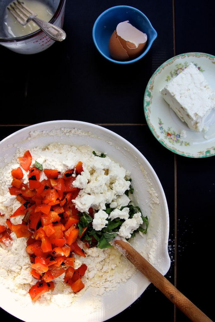 roasted red pepper skillet scones | Joy the Baker | Flickr