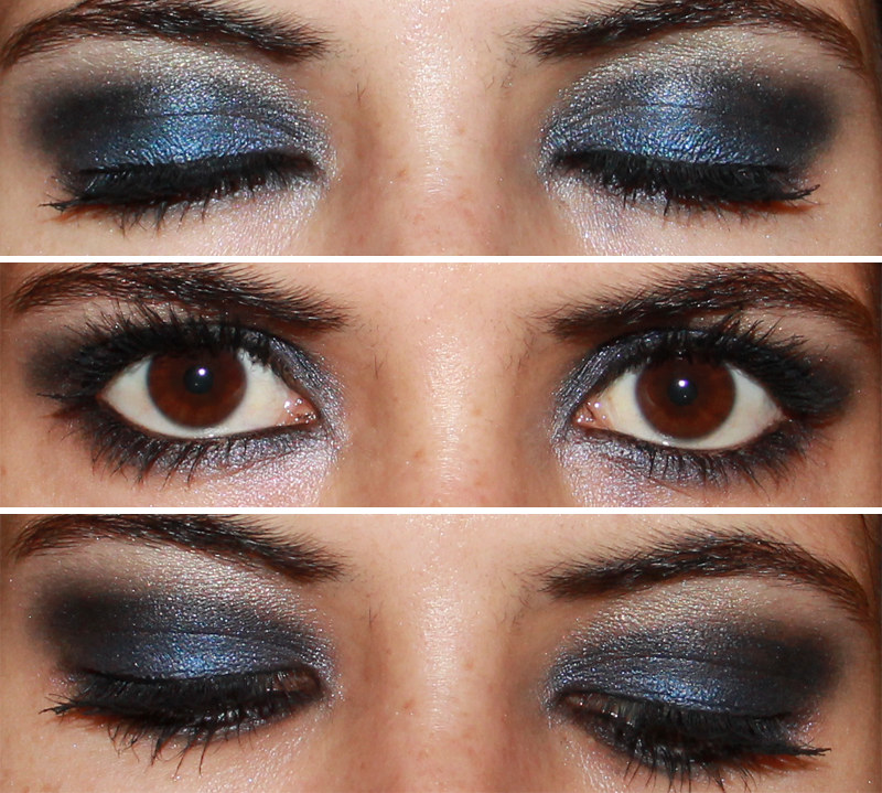 Maquillaje azul y negro Ojos ahumados en azul y negro Flickr