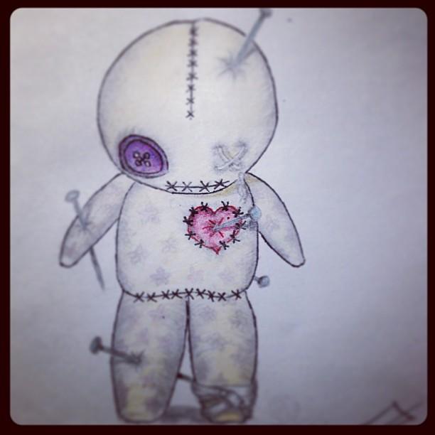 finished tattoo design of a voodoo doll a5f352af6a5478a1c4f2343e97e9693f flickr. Black Bedroom Furniture Sets. Home Design Ideas