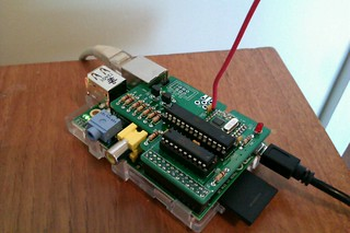RFM12B and Atmel ISP programmer shield for Raspberry Pi | by Steve Marple