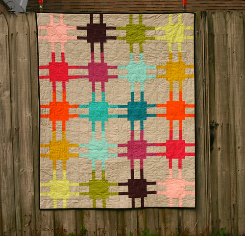 Modern Circuitry quilt - on display at QuiltCon | by Don't Call Me Betsy