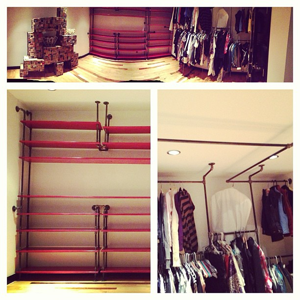 Superb The Black Iron Pipe Closet Is Finished! You Can Now Settle In  @charlotteshoe !