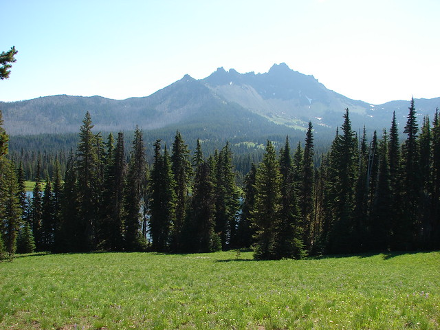 Three Fingered Jack and Santiam Lake