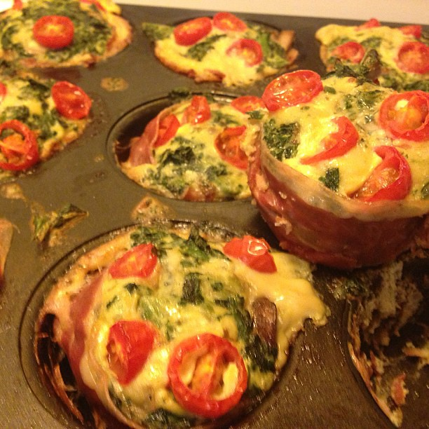 My prosciutto wrapped mini frittata muffins (paleo recipe ...