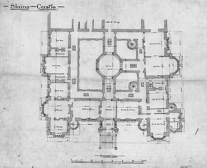 Slains Castle 1st Floor Plan | Slains Castle, also known