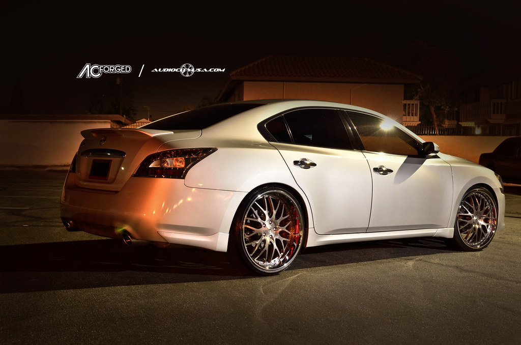22 Quot Ac Forged 313 Wheels Staggered On 2012 Nissan Maxima