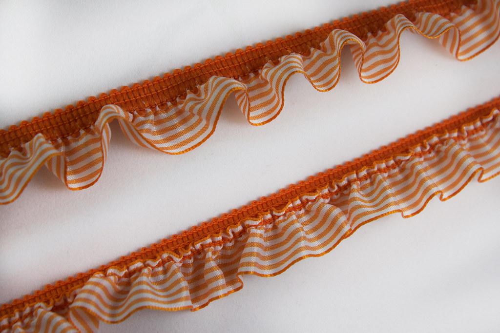 Rüschenborte Vichy 19mm, orange
