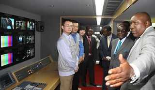 Republic of Zimbabwe President Robert Mugabe donates outside broadcast van from the People's Republic of China. China has been a long time ally of the Southern African state. | by Pan-African News Wire File Photos