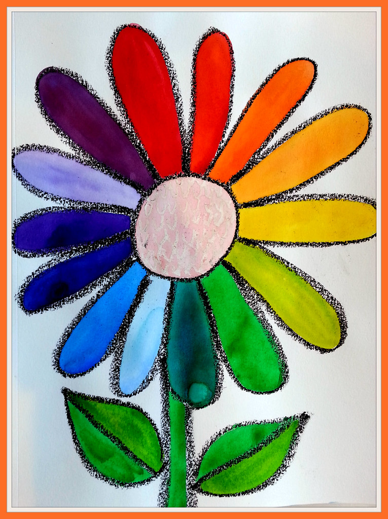 Colorwheel Sunflower For Kinders Hard To See Some Of The C Flickr
