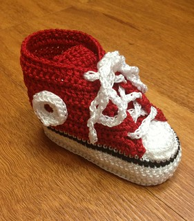 Crocheted Baby Hi-Tops | by Heavenly Babies