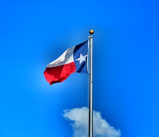 Our Beautiful State Flag Against Our Big Blue Sky | by Texas State Library and Archives Commission
