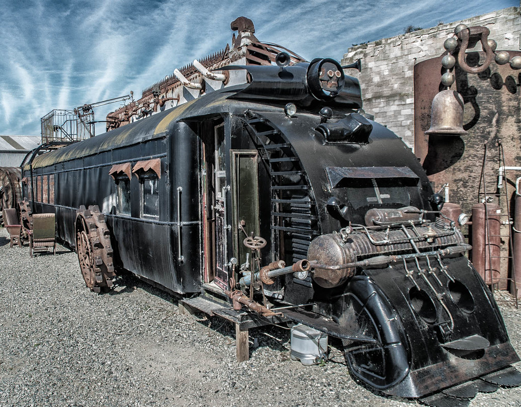 escape to the catlins steampunk train at oamaru old car flickr. Black Bedroom Furniture Sets. Home Design Ideas