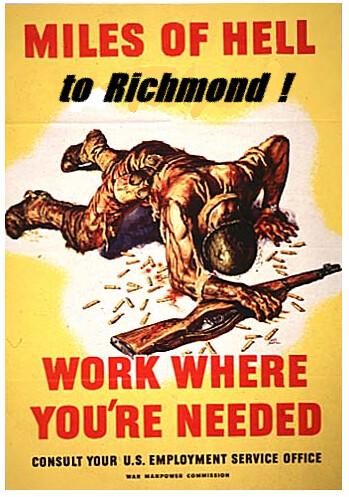 Miles of Hell to Richmond! TL-191 Propaganda Poster | Flickr