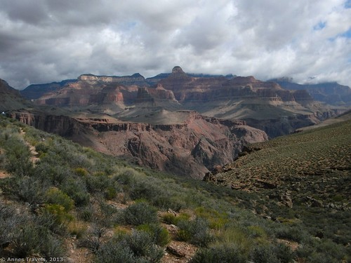 Cloudy morning on the Tonto Trail, Grand Canyon National Park, Arizona