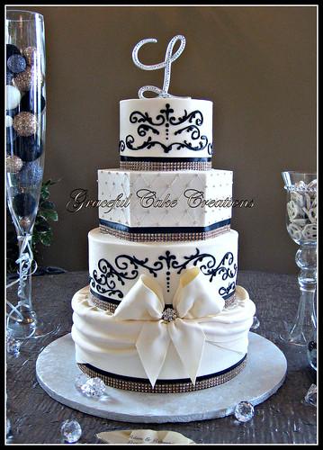 Elegant Crystal Wedding Cake Toppers