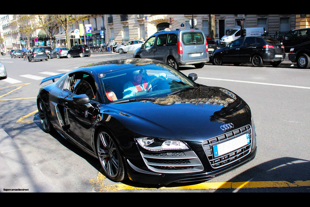 Darkness | Audi R8 GT full black for promotion of Iron Man 3… | Flickr