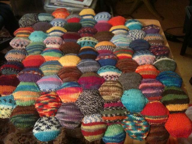 Knitting Patterns For Leftover Wool : Hexipuff Blanket Flickr - Photo Sharing!