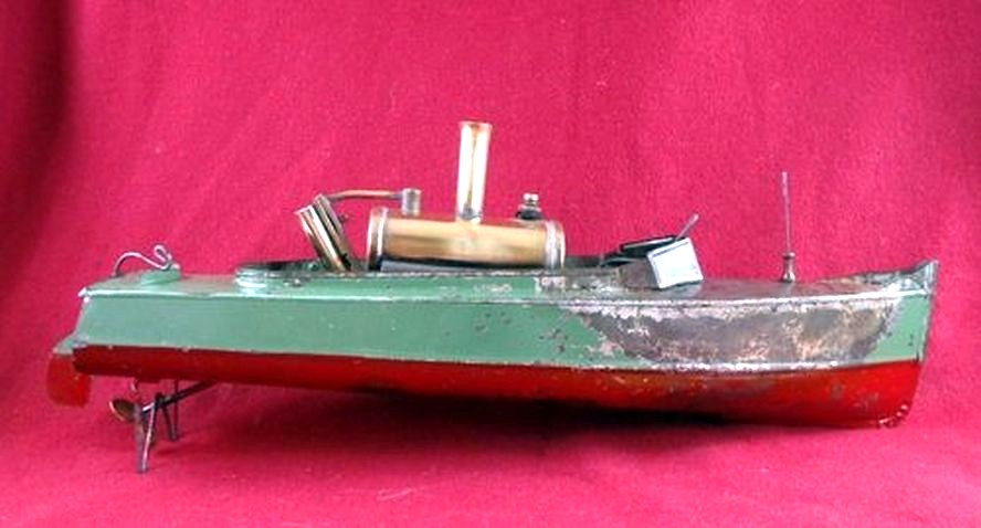1900'S STEAMBOAT LIVE STEAM ENGINE TOY BOAT | oldsailro ...