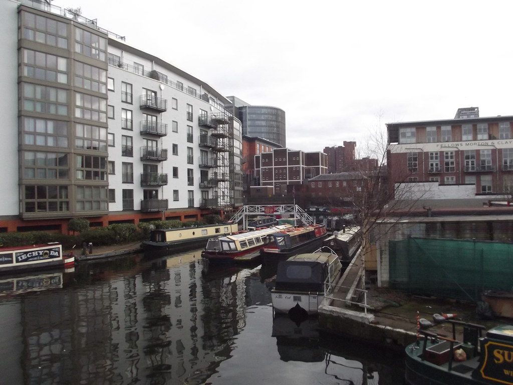 Oozells Street Loop - narrowboats | I found a part of the ...