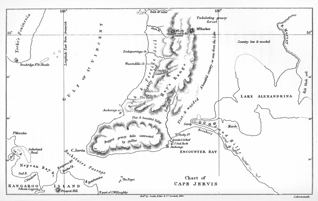 Chart of Cape Jervis 1831  zcm1957320 Chart of Cape Jervis  Flickr