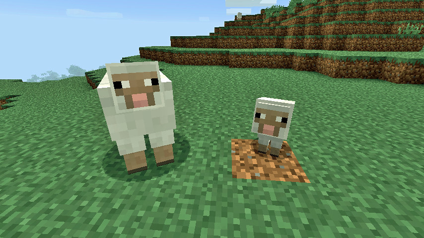 how to make a big sheep in minecraft