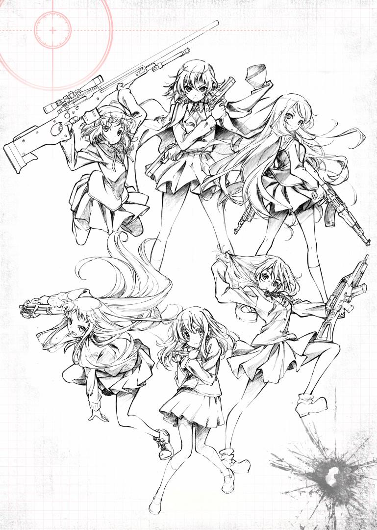 130412(1) - 高中美少女生存遊戲《ステラ女学院高等科C3部》將在夏天播出電視動畫,製作群&海報出爐!