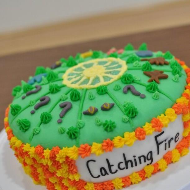 Catching Fire Birthday Cake