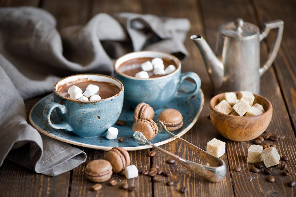 Hot Chocolate And Macarons 365 Anna Verdina Karnova Flickr