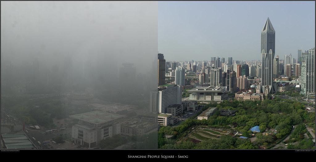 What Is Smog >> Shanghai People Square - Smog | Taken three days apart... | Flickr