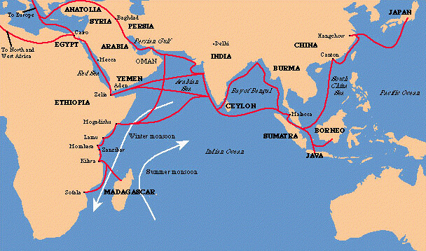 indian ocean trade routes   www.salaam.co.uk ...