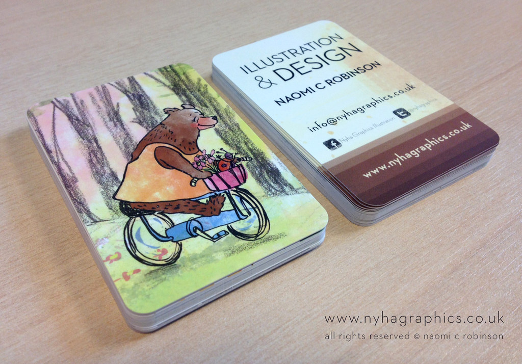 Illustrators Business Cards | Isn\'t she cute?! | Hi Ni | Flickr