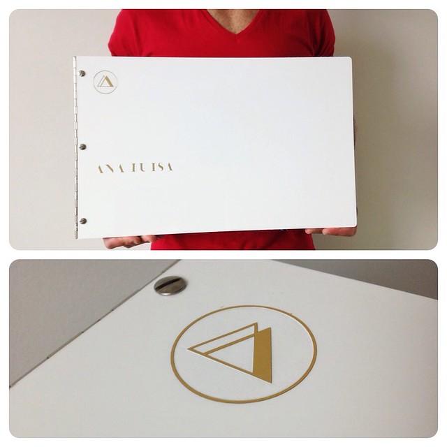Custom Fashion Design Portfolio Book White Acrylic With