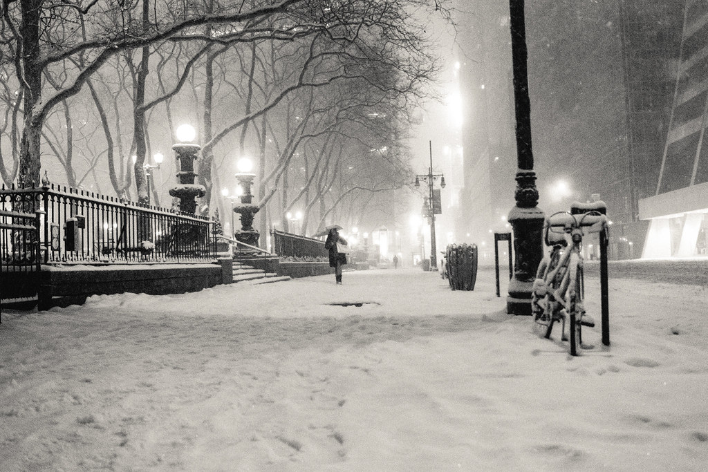New york winter snow on 42nd street a snow covered - Nyc winter wallpaper hd ...