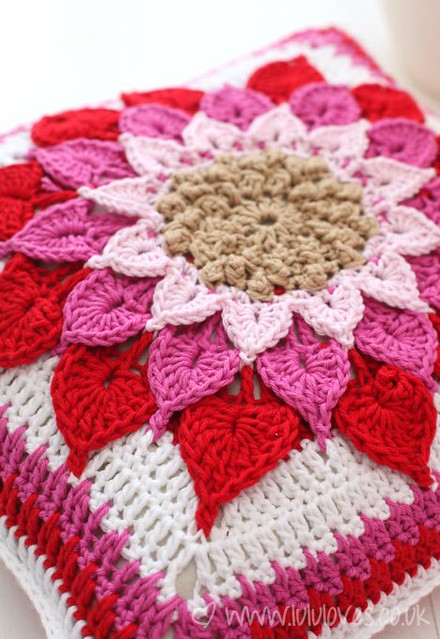 Crochet Crocodile Flower Cushion Flickr - Photo Sharing!