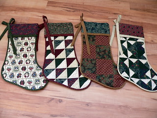 Patchwork Stockings | by Deb@asimplelifequilts