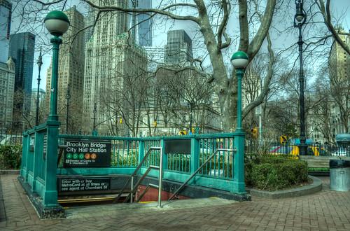 New York City       Brooklyn Bridge - City Hall Subway Station