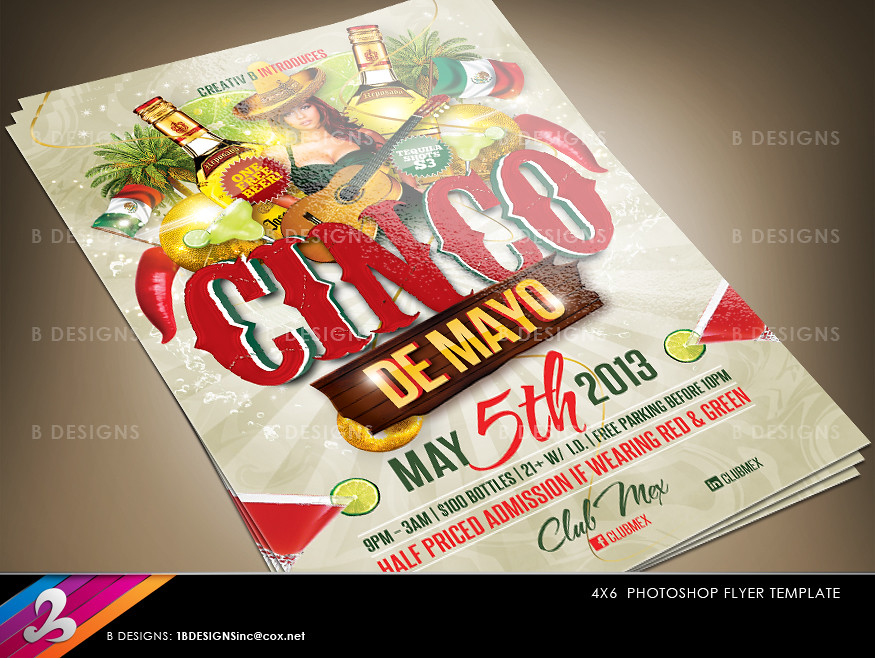 cinco de mayo flyer template download fully layered photos flickr